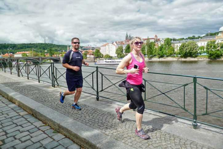 Running Tours Prague viewpoints - 13km running tour